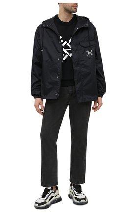 Мужской хлопковый свитшот kenzo sport KENZO черного цвета, арт. FA65SW5214MS | Фото 2