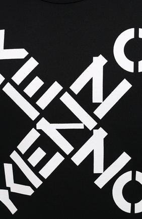 Мужской хлопковый свитшот kenzo sport KENZO черного цвета, арт. FA65SW5214MS   Фото 5 (Рукава: Длинные; Длина (для топов): Стандартные; Стили: Гранж; Принт: С принтом; Мужское Кросс-КТ: свитшот-одежда; Материал внешний: Хлопок)