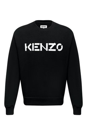 Мужской хлопковый свитшот KENZO черного цвета, арт. FA65SW0004MD | Фото 1