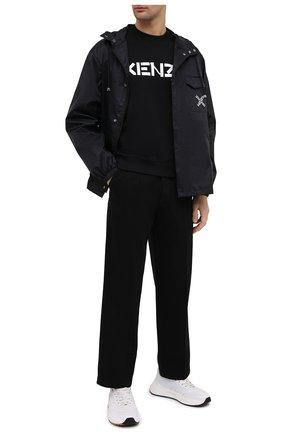 Мужской хлопковый свитшот KENZO черного цвета, арт. FA65SW0004MD | Фото 2
