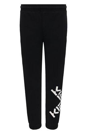 Мужские хлопковые джоггеры kenzo sport KENZO черного цвета, арт. FA65PA7124MS | Фото 1