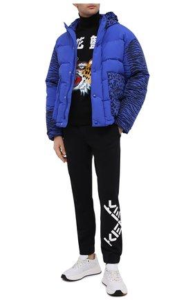 Мужские хлопковые джоггеры kenzo sport KENZO черного цвета, арт. FA65PA7124MS | Фото 2