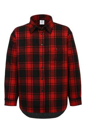 Мужская рубашка VETEMENTS красного цвета, арт. UE51SH950R 1211/M   Фото 1