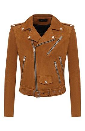 Мужская замшевая куртка AMIRI коричневого цвета, арт. MLJ005-253 | Фото 1