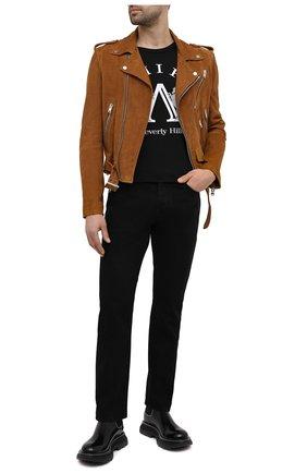 Мужская замшевая куртка AMIRI коричневого цвета, арт. MLJ005-253 | Фото 2