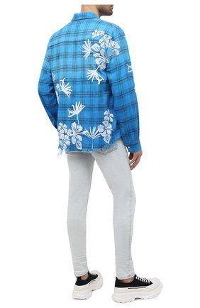 Мужская хлопковая рубашка AMIRI голубого цвета, арт. MSL010-440 | Фото 2