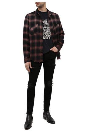Мужская рубашка из хлопка и вискозы AMIRI коричневого цвета, арт. MSL007-200 | Фото 2