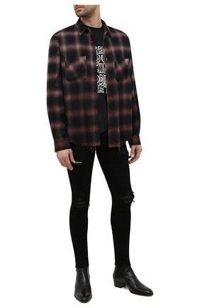 Мужские джинсы AMIRI черного цвета, арт. MDS005-001   Фото 2