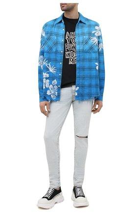 Мужские джинсы AMIRI голубого цвета, арт. MDS003-421   Фото 2