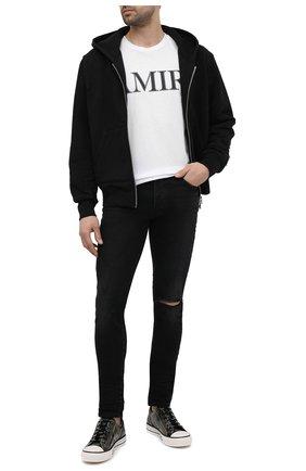 Мужские джинсы AMIRI черного цвета, арт. MDS003-003 | Фото 2