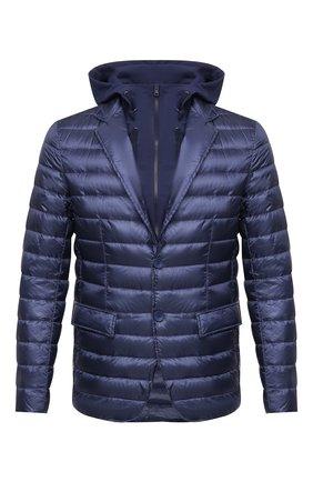 Мужская пуховая куртка HERNO синего цвета, арт. PI0698U/12020   Фото 1
