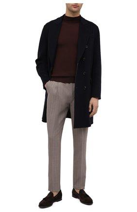 Мужские шерстяные брюки BRUNELLO CUCINELLI бежевого цвета, арт. MD473E1740 | Фото 2 (Случай: Повседневный; Материал внешний: Шерсть; Длина (брюки, джинсы): Стандартные; Материал подклада: Вискоза; Стили: Кэжуэл)