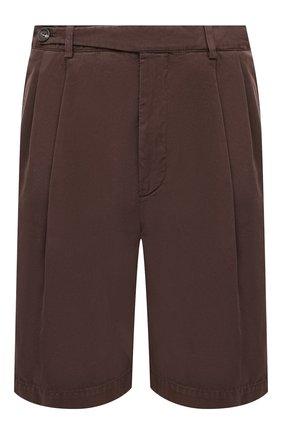 Мужские хлопковые шорты BRUNELLO CUCINELLI темно-коричневого цвета, арт. M274DG0620 | Фото 1