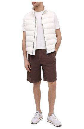 Мужские хлопковые шорты BRUNELLO CUCINELLI темно-коричневого цвета, арт. M274DG0620 | Фото 2