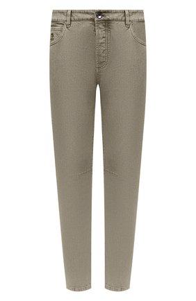Мужские джинсы BRUNELLO CUCINELLI хаки цвета, арт. M0H43X1290 | Фото 1