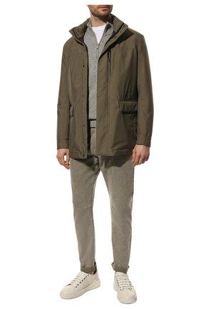 Мужские джинсы BRUNELLO CUCINELLI хаки цвета, арт. M0H43X1290 | Фото 2