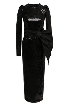 Женское платье с пайетками KALMANOVICH черного цвета, арт. FW20K23   Фото 1