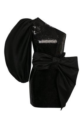 Женское платье с пайетками KALMANOVICH черного цвета, арт. FW20K01   Фото 1