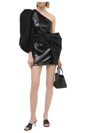 Женское платье с пайетками KALMANOVICH черного цвета, арт. FW20K01   Фото 2