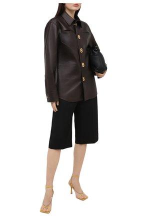 Женские кожаные босоножки stretch BOTTEGA VENETA желтого цвета, арт. 651385/VBSF0 | Фото 2