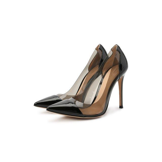 Комбинированные туфли Plexi Gianvito Rossi