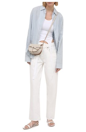 Женские кожаные сандалии manhattan GIANVITO ROSSI белого цвета, арт. G31202.05CU0.VERBIAN | Фото 2