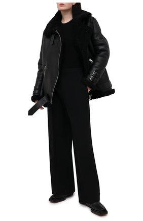 Женская дубленка ACNE STUDIOS черного цвета, арт. 1AQ173/W | Фото 2
