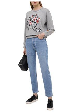 Женские кожаные кеды SANTONI черного цвета, арт. WBWI60627BIAXSSLN01 | Фото 2