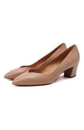 Женские кожаные туфли SANTONI коричневого цвета, арт. WDHC58609HI2NSZAP29 | Фото 1