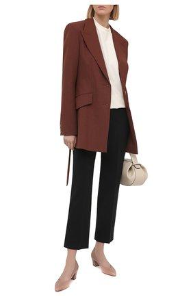 Женские кожаные туфли SANTONI коричневого цвета, арт. WDHC58609HI2NSZAP29 | Фото 2