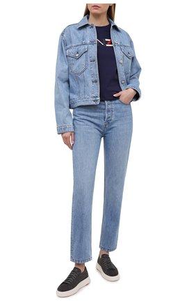 Женские кожаные кеды SANTONI серого цвета, арт. WBCD60780BARCCYDG62 | Фото 2