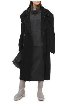 Женские кожаные сапоги GIA COUTURE серого цвета, арт. PERNI-07 B 104 | Фото 2