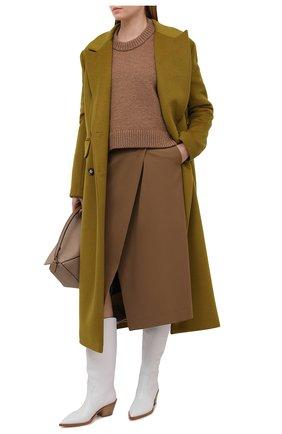 Женские кожаные сапоги GIANVITO ROSSI белого цвета, арт. G73329.45CU0.CLNBIAN   Фото 2 (Каблук высота: Средний; Подошва: Плоская; Высота голенища: Средние; Каблук тип: Устойчивый; Материал внутренний: Натуральная кожа; Женское Кросс-КТ: Казаки-сапоги)