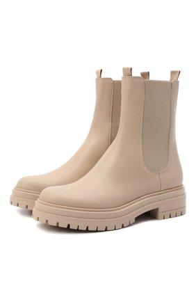 Женские кожаные ботинки GIANVITO ROSSI светло-бежевого цвета, арт. G73462.20G0M.CLNM0US | Фото 1