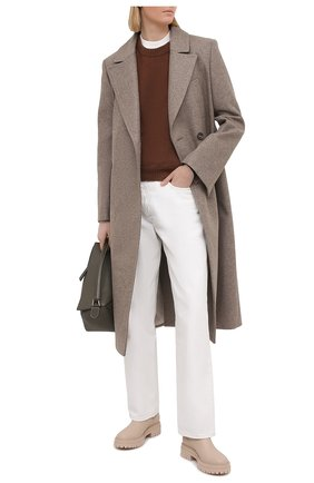 Женские кожаные ботинки GIANVITO ROSSI светло-бежевого цвета, арт. G73462.20G0M.CLNM0US | Фото 2