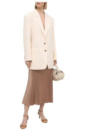 Женские кожаные босоножки CASADEI бежевого цвета, арт. 1L750S0601FL0RE2804 | Фото 2
