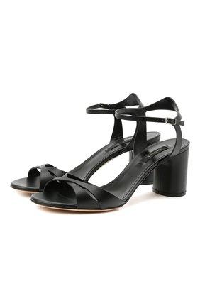 Женские кожаные босоножки CASADEI черного цвета, арт. 1L766S0601FL0RE9000 | Фото 1