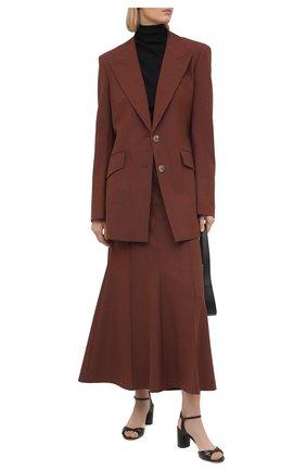 Женские кожаные босоножки CASADEI черного цвета, арт. 1L766S0601FL0RE9000 | Фото 2