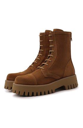 Женские кожаные ботинки CASADEI бежевого цвета, арт. 1R256S0401RENXL2801 | Фото 1