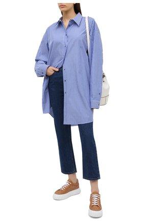 Женские кожаные кеды CASADEI бежевого цвета, арт. 2X822P0201HAN0I2804 | Фото 2