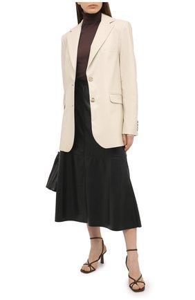Женские кожаные босоножки alkes NEOUS темно-коричневого цвета, арт. 00206N16 | Фото 2