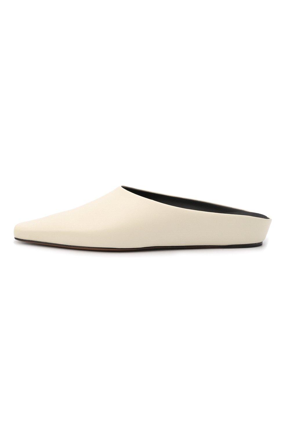 Женские кожаные сабо alba NEOUS белого цвета, арт. 00263A10   Фото 3