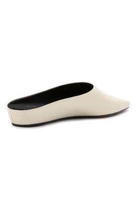 Женские кожаные сабо alba NEOUS белого цвета, арт. 00263A10   Фото 4