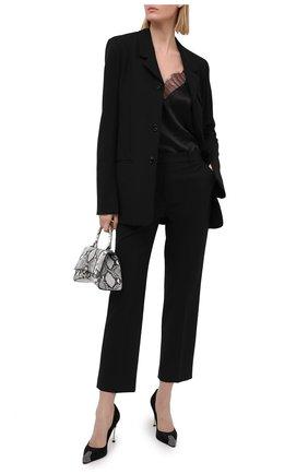 Женские замшевые туфли ALEXANDER MCQUEEN черного цвета, арт. 633501/WHQVA   Фото 2 (Материал внутренний: Натуральная кожа; Подошва: Плоская; Каблук тип: Шпилька; Каблук высота: Высокий; Материал внешний: Замша)