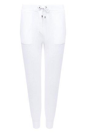 Женские хлопковые джоггеры BRUNELLO CUCINELLI белого цвета, арт. M19750399 | Фото 1