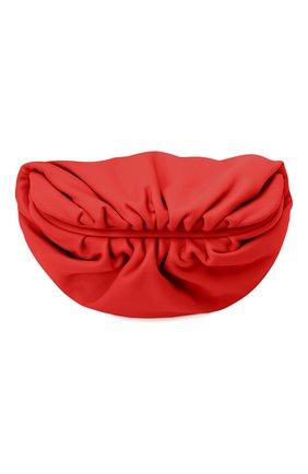 Женская поясная сумка the belt chain pouch BOTTEGA VENETA красного цвета, арт. 651445/VCP41 | Фото 1