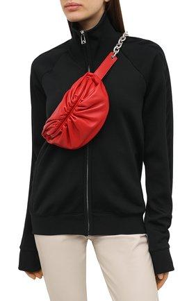 Женская поясная сумка the belt chain pouch BOTTEGA VENETA красного цвета, арт. 651445/VCP41 | Фото 2