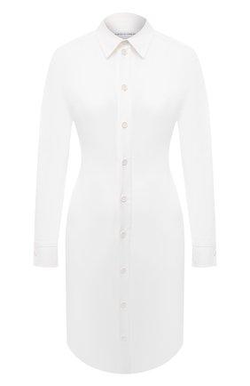 Женское хлопковое платье BOTTEGA VENETA белого цвета, арт. 647409/VKIX0 | Фото 1