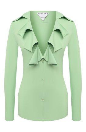 Женская блузка из вискозы BOTTEGA VENETA светло-зеленого цвета, арт. 646584/V01N0 | Фото 1