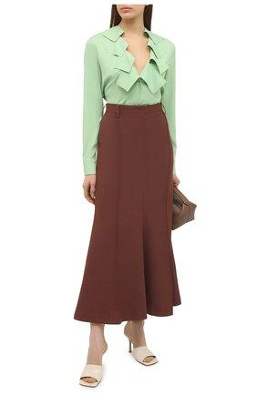 Женская блузка из вискозы BOTTEGA VENETA светло-зеленого цвета, арт. 646584/V01N0 | Фото 2